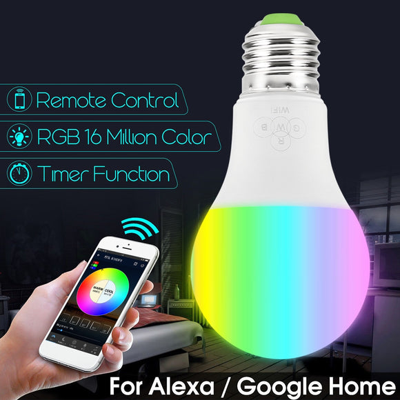 Hot Magic WiFi Smart Light Bulb E27 LED Light Bulb Color Change Dimmable Compatible with Alexa and Google Assistant 7W 4.5W