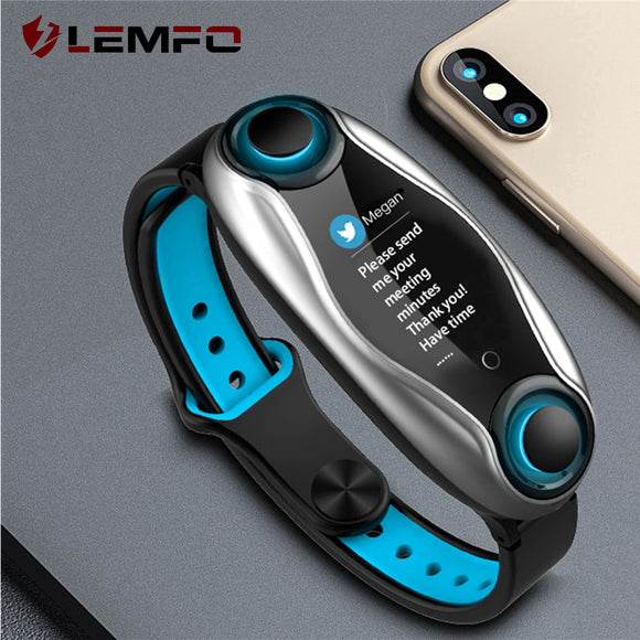 LEMFO LT04 Smart Watch with Wireless Headphones Bluetooth 5.0 Blood Pressure BT calls Smart Watches For Men Women Presale