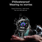 ESEED SN80 smart watch men IP68 waterproof 60 days long standby 1.3 inch full touch screen Allloy case Heart rate smartwatch