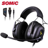 Gaming Headphone Headset Earphones 3.5MM USB with Mic Microphone PC Phone Laptop Computer PS4 Xbox gamer Original Somic G936