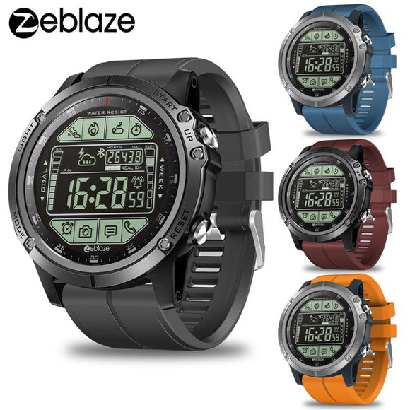 Zeblaze VIBE 3S Outdoor Smart Watch Real-time Weather Steps Calorie Distance Tracking Water Resistant Goal Setting Alarm