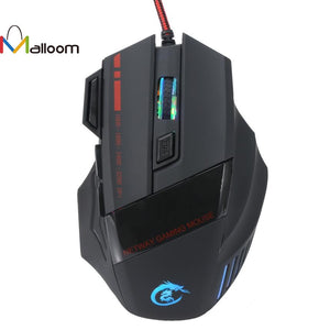 Gaming Mouse 5500 DPI 7D LED Optical USB Wired PRO Game Mouse For PC Laptop Gaming For High-End Player - reyes shop store