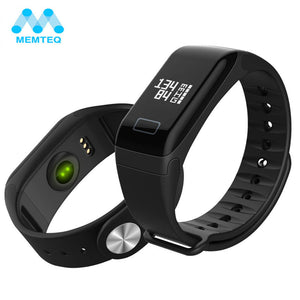 Blood Pressure Oxygen Smart Wristband Bluetooth 4.0 Smart Watch For Android iOS Sleep Monitor - reyes shop store