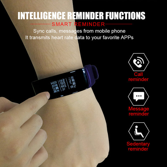 Smart Heart Rate Wristband Fitness Tracker Monitor Sleep Monitor Call Reminder Alarm Clock Waterproof Smart - reyes shop store