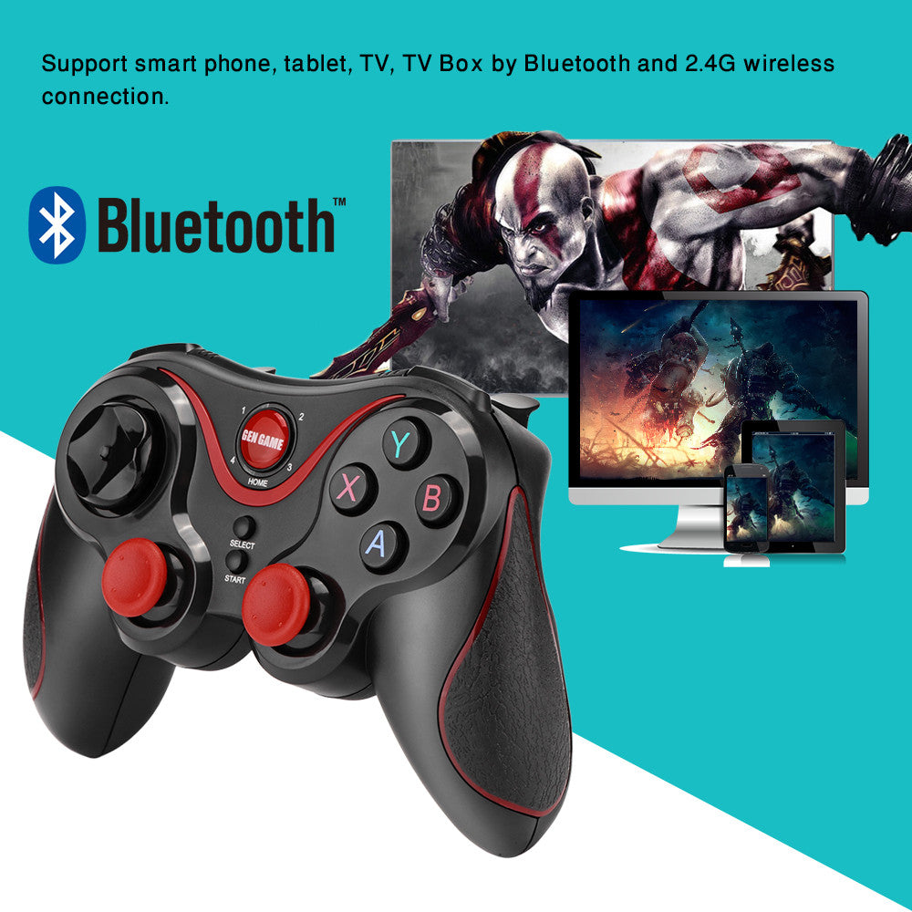 Bluetooth3 0 Wireless Gamepad Controller with holder available Rechargeable  for Android iOS Windows Smartphone iPhone TV
