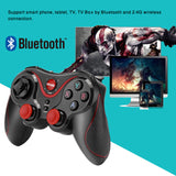 Bluetooth3.0 Wireless Gamepad Controller with holder available Rechargeable for Android iOS Windows Smartphone iPhone TV - reyes shop store