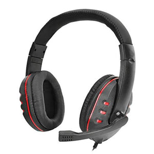 Gaming Headset Voice Control Wired HI-FI Sound Quality For PS4 Black+Red - reyes shop store