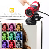 Web Cam  with Absorption Microphone MIC for Skype for Android TV Rotatable Computer Special effects  Camera Webcam - reyes shop store
