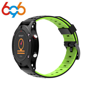 F5 GPS Smart Watch Waterproof Android ios wear Smartwatch Heart Rate Altimeter Thermometer Green Sport Watch for man women - reyes shop store