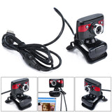 1.3 Megapixel Vehicle Camera Web Cam with Mic 2 LED Lights Support Night Vision for PC Android TV - reyes shop store