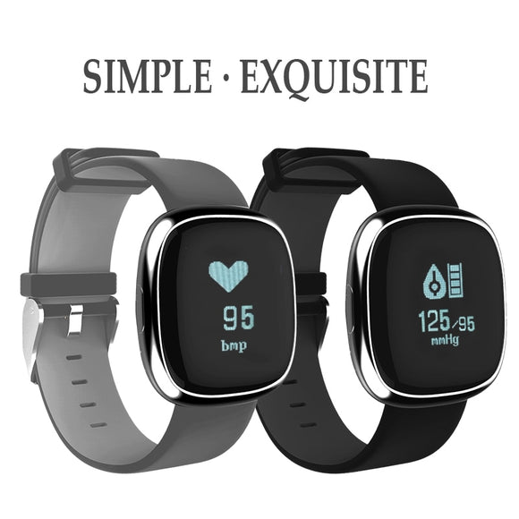 Blood Press Heart Rate Smart Watch for Business Man Women Bracelet with Pedometer Calories Message Push Samrt Wearable Device