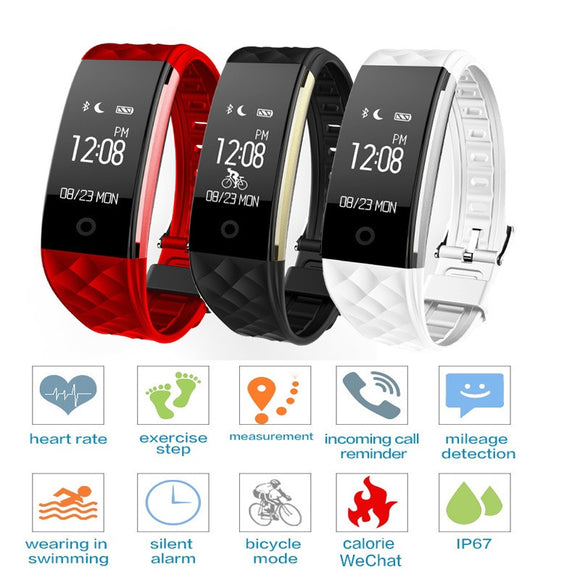 S2 Smart Watch Wristband Heart Rate Monitor IP67 Waterproof Sport Smart Bracelet Fitness Tracker Men Women Smart Band For Android IOS Device iPhone Samsung LG
