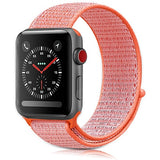 For Apple Watch Band 38MM 42MM Nylon Soft Breathable Nylon I Watch Replacement Band Sport Loop for Apple Watch Series 3/2/1 - reyes shop store