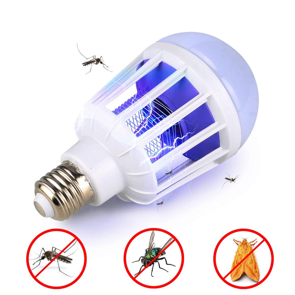 AC175~220V LED Mosquito Killer Bulb E27/B22 LED Bulb For Home Lighting Bug Zapper Trap Lamp Insect Anti Mosquito Repeller Light