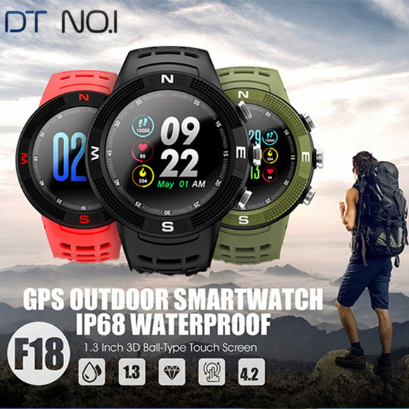 NO.1 F18 Smart Watch GPS Sports Bluetooth Sleep Monitoring Smartwatch For Men Waterproof Call / Message Reminder PK NO.1 F6