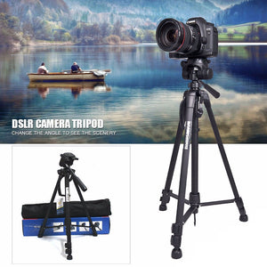 Tripod Camera Tripod Professional Camcorder DV Video Monopod 3 Section Black Timer Shoots Travel