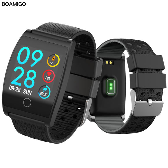 Bluetooth Smart Watch BOAMIGO Smartwatch For IOS Android Phone Call Remind Camera Calories Heart rate bracelet Wristband OLED - reyes shop store