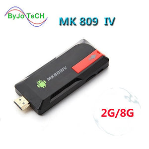 ByJoTeCH NEWest 4K Upgrade MK809IV TV Dongle Stick Android TV Box RK3229 Quad Core 2G 8G 2G 16G Mini PC WiFi Android box 4K - reyes shop store