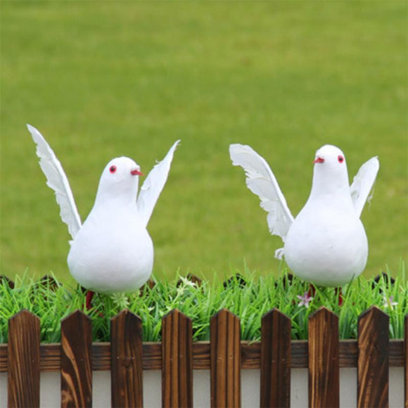 1PC Decorative Dove Artificial Foam Feather White Bird Dove for Home Wedding Decoration Ornaments Birds Crafts
