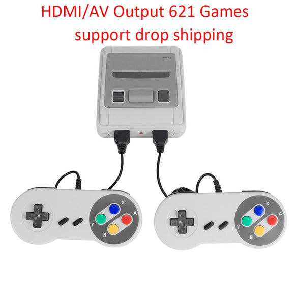 HDMI/AV Output 8 Bit Retro Video Game Console 621 Games Childhood Mini Classic 4K TV Handheld Gaming Player with 2 Game Pad Hot