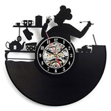 Vinyl Record Wall Clock Modern Design Decorative Kitchen Knife and Fork Kitchen Hanging Clocks Wall Watch Home Decor Silent