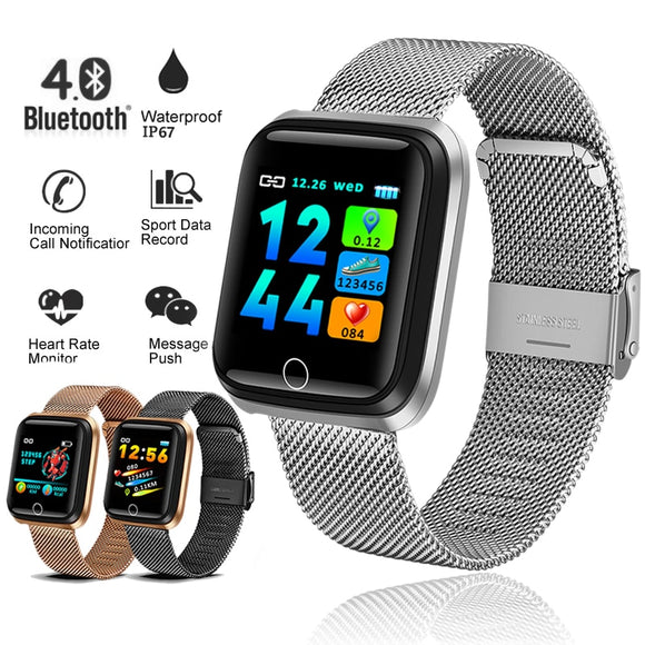 BANGWEI 2019 New smart sports watch Women Smart Watch Men Heart Rate Blood Pressure Monitor Fitness Tracker Pedometer Watch+BOX