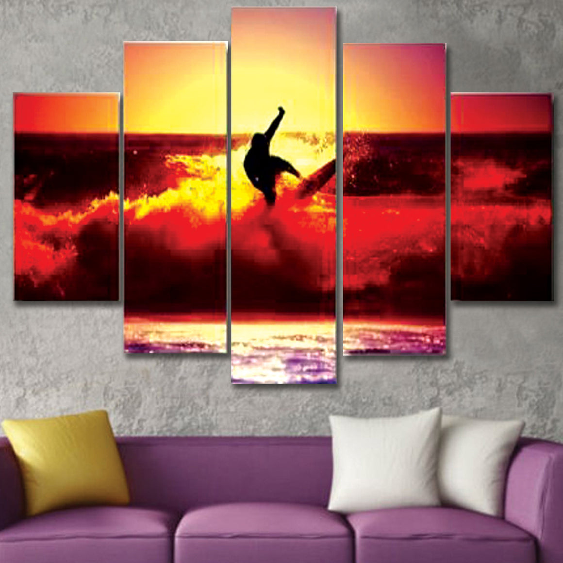 Surfer Canvas Wall Art