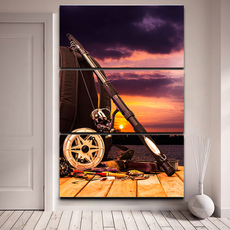 Fishing Gear Canvas Wall Art