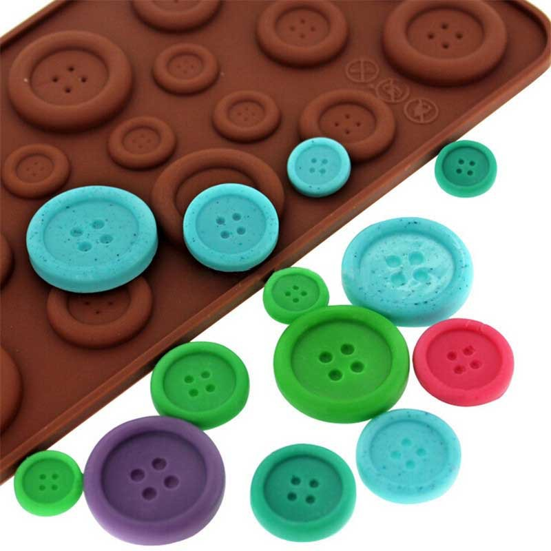 Cute Button Shape Silicone Chocolate/Ice Mold