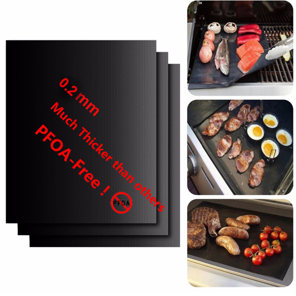 Barbecue/Cooking Grill Mat (3 Pieces)