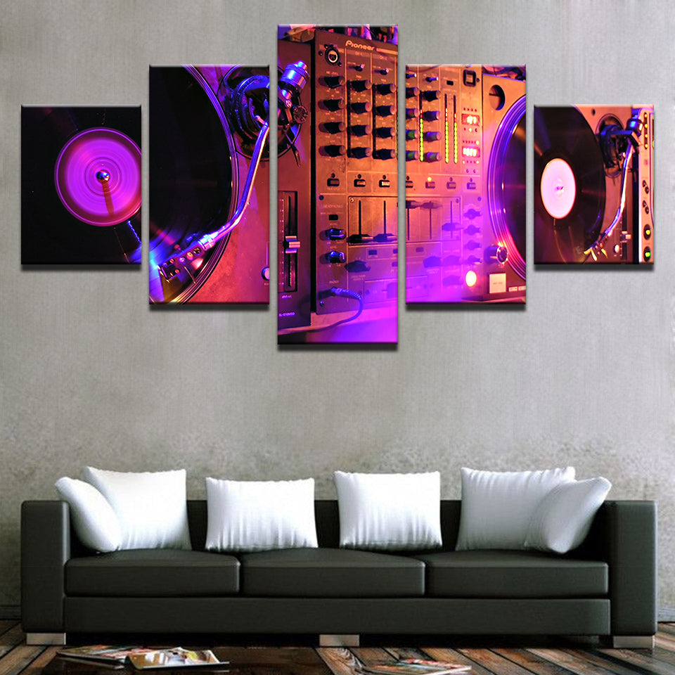 DJ Mixer Multi-Panel Canvas Art