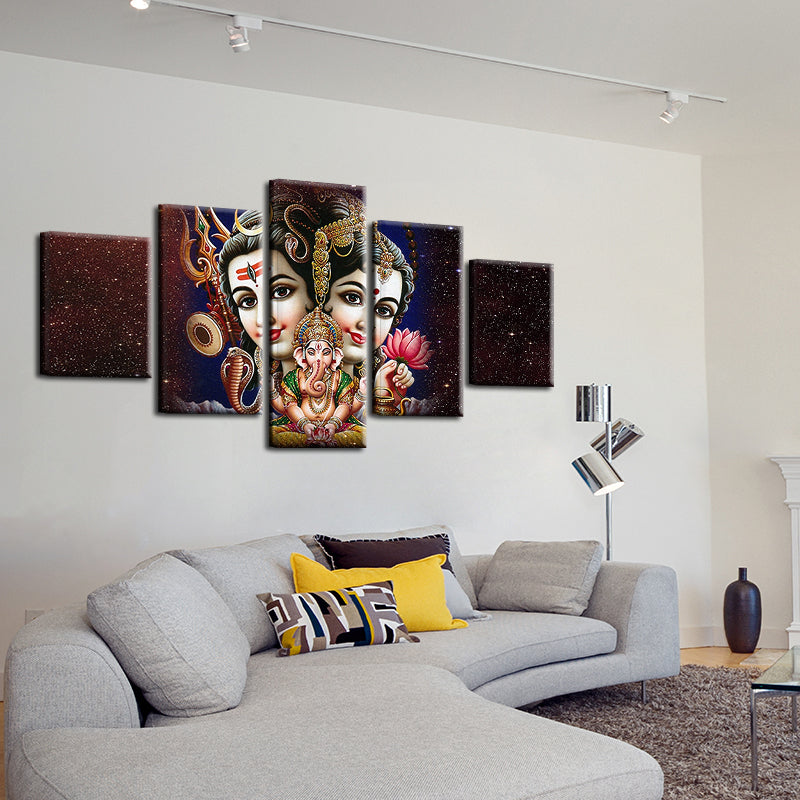 Lord Ganesha Canvas Wall Art