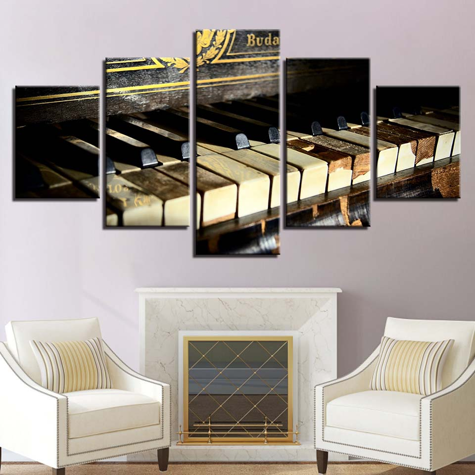 Retro Piano Keys Canvas Art