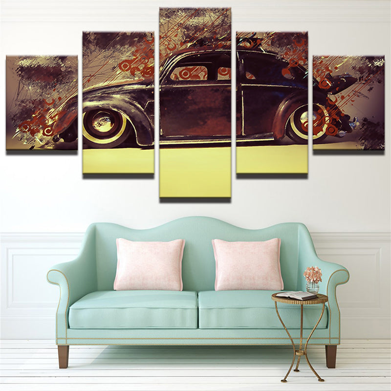 Modular Retro Vintage Car  Canvas Art