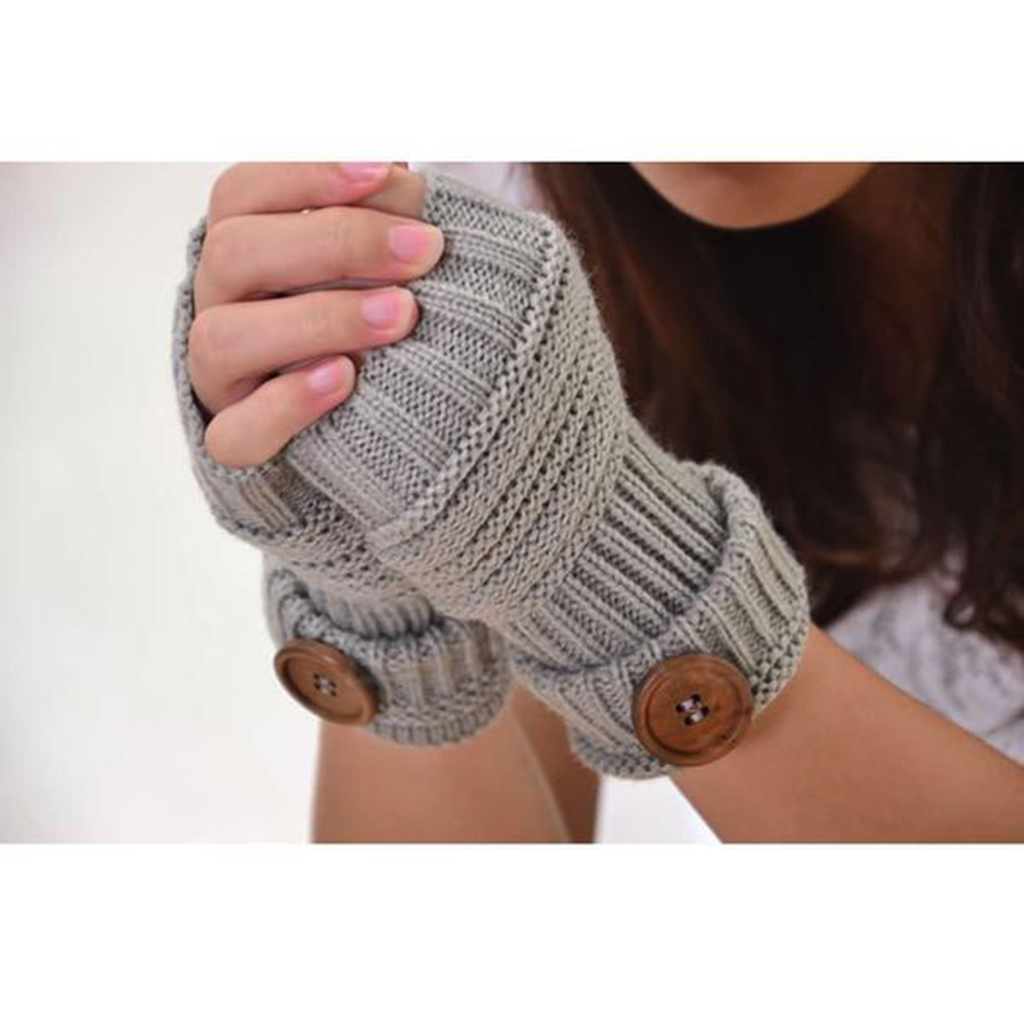 Knitted Long Hand Mittens Gloves