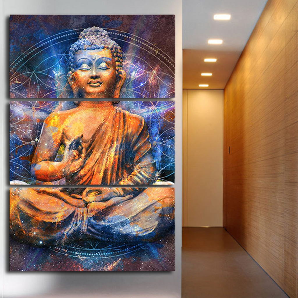 Abstract Meditating Buddha Wall Art