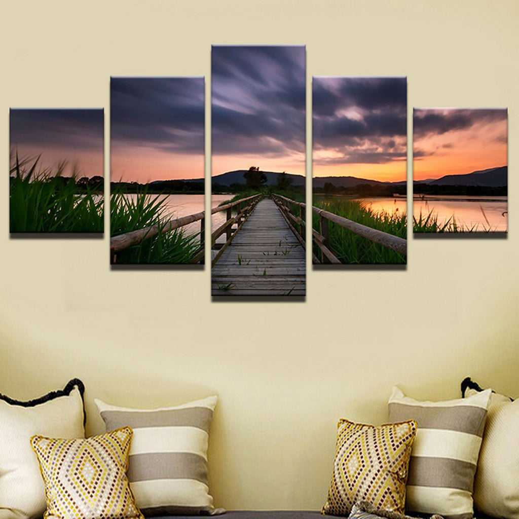Sunset Seascape Canvas 5 Panel