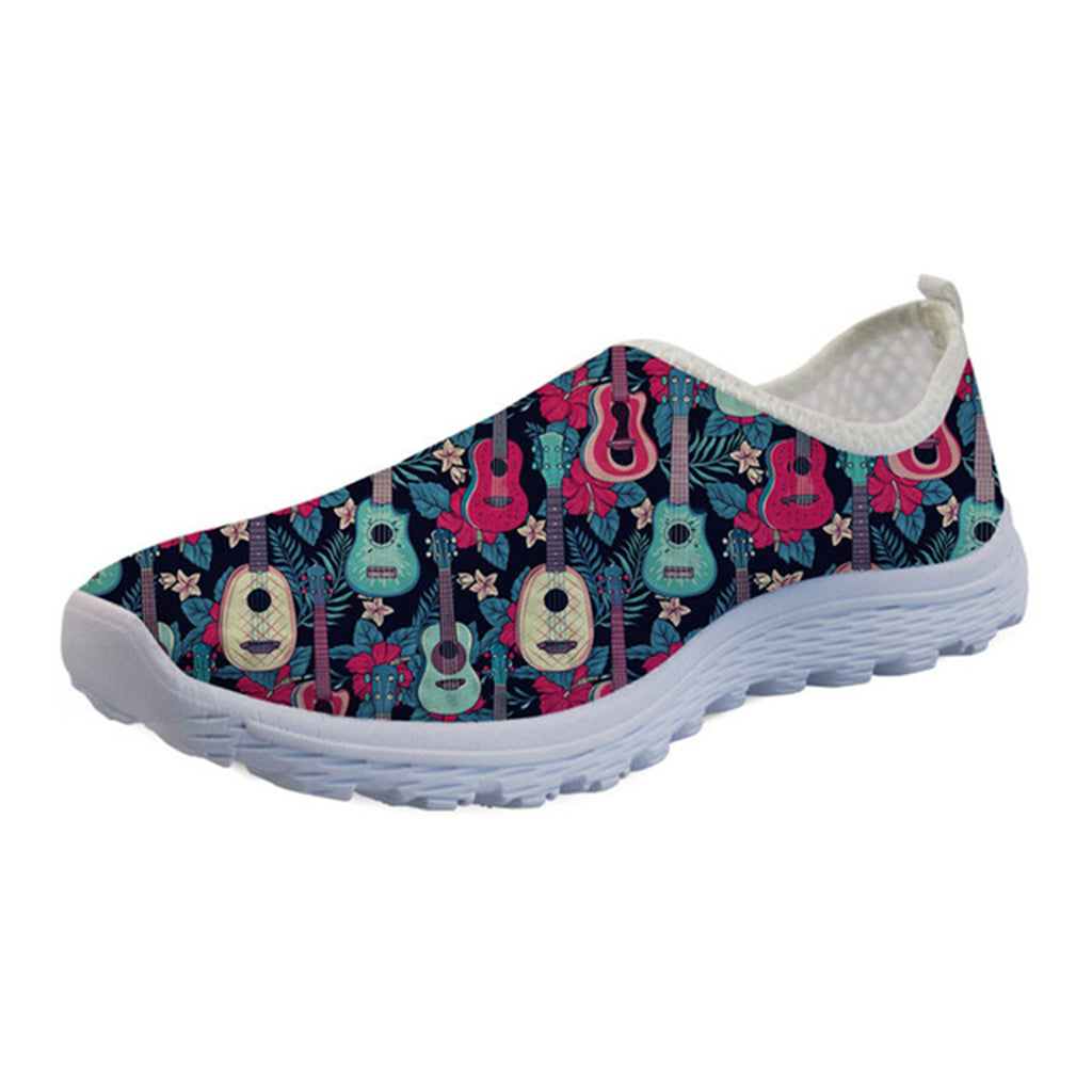 Multi Colour Guitar Printed Unisex Mesh Shoes