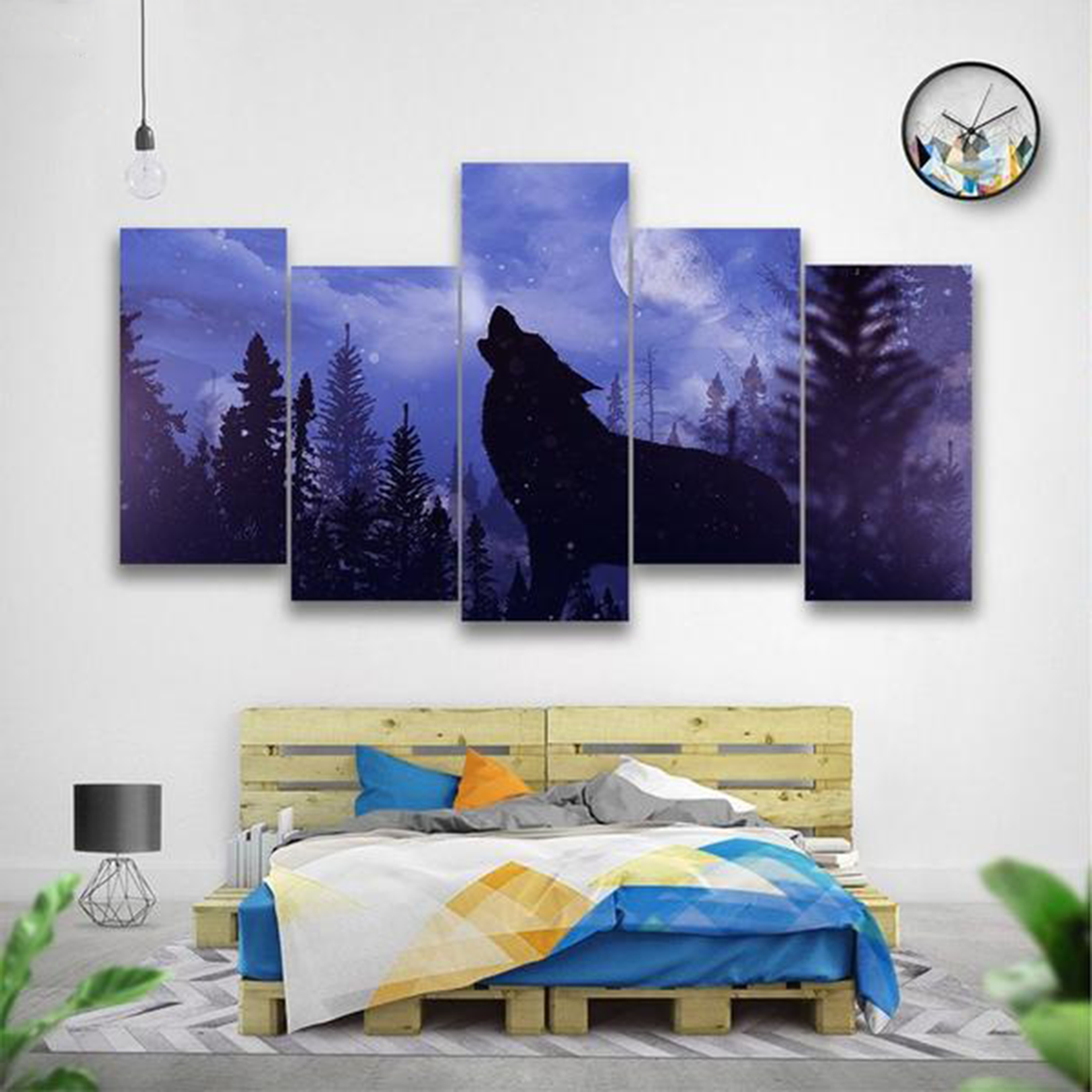 Howling Wolf Canvas Art