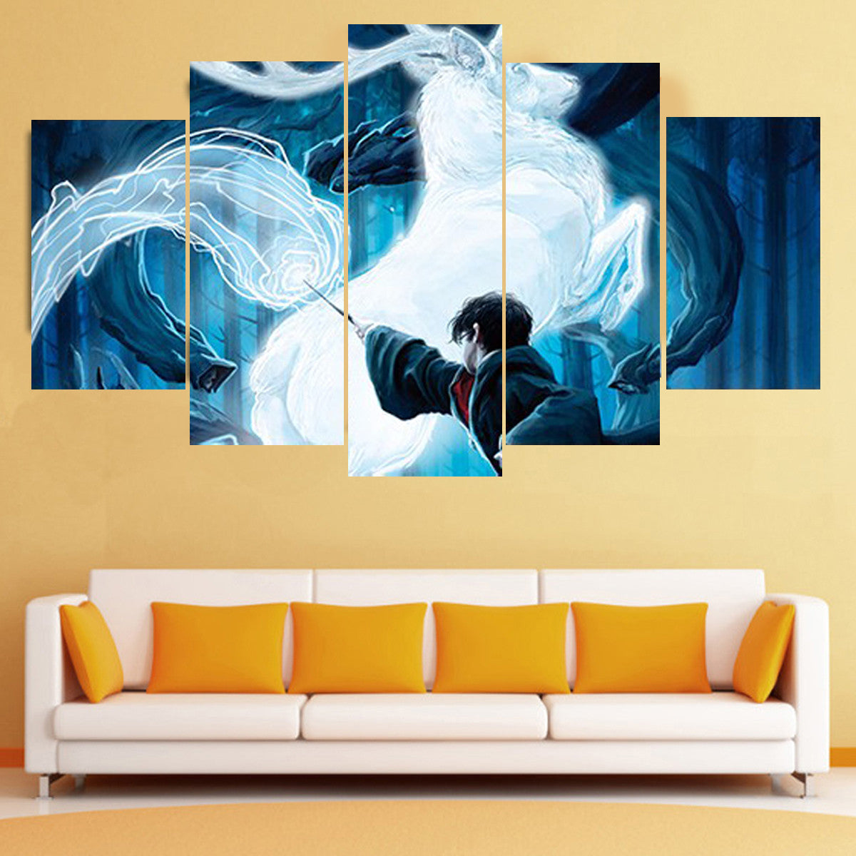 Patronus Charm Canvas Art - Anjuna Lane
