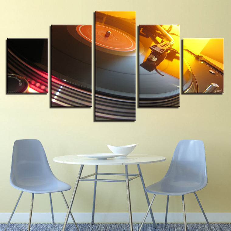 DJ Console Turntables Canvas Art