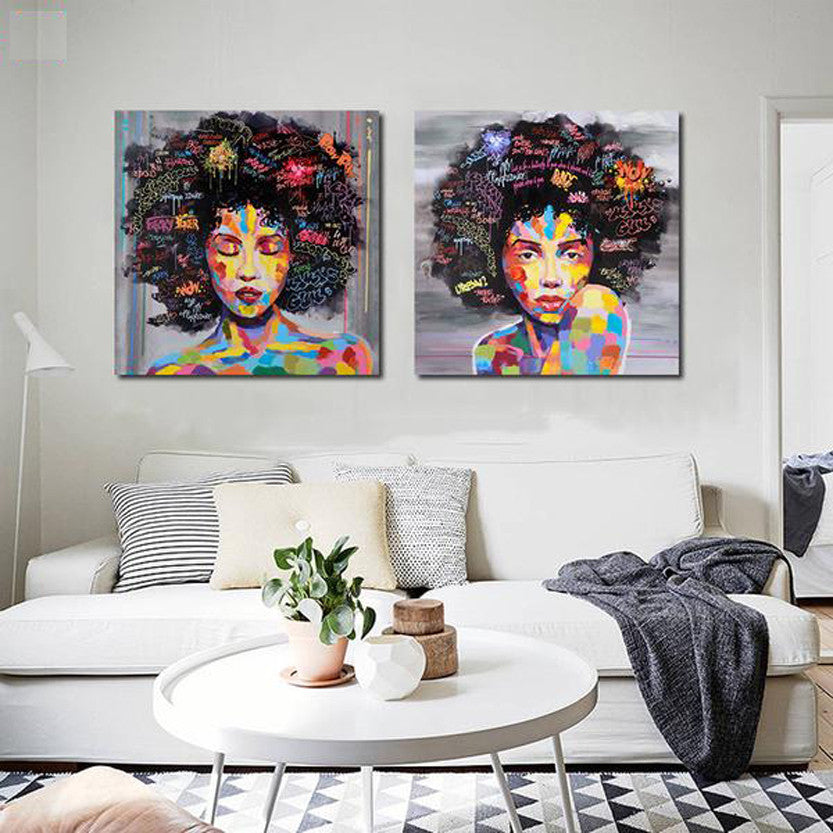 Modern Women Graffiti Canvas Art