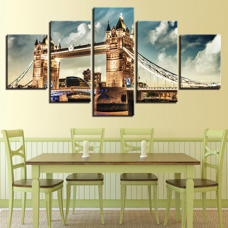 London Tower Bridge Landscape Canvas Art