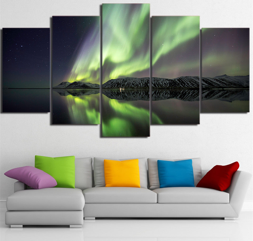 Aurora Shadow Mountain Multiple Panel Canvas Art