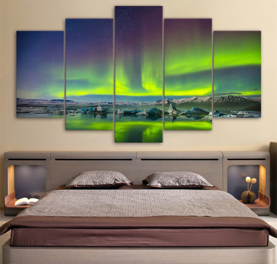 Aurora Sky Landscape Canvas Art