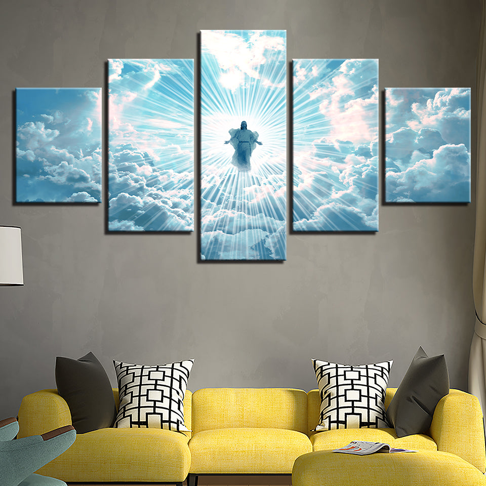 Jesus in Heaven Canvas Art 5 Pcs.