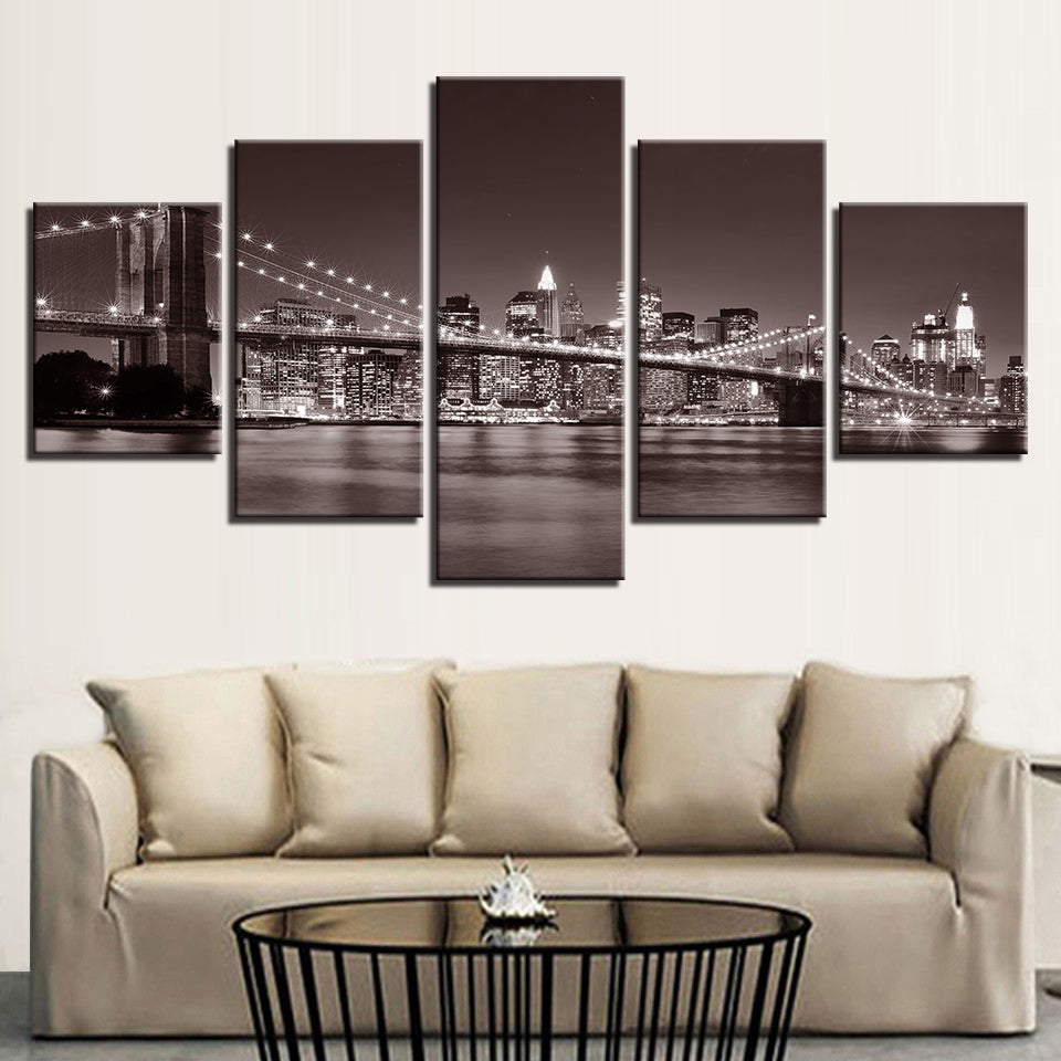 Brooklyn Bridge City Canvas Art