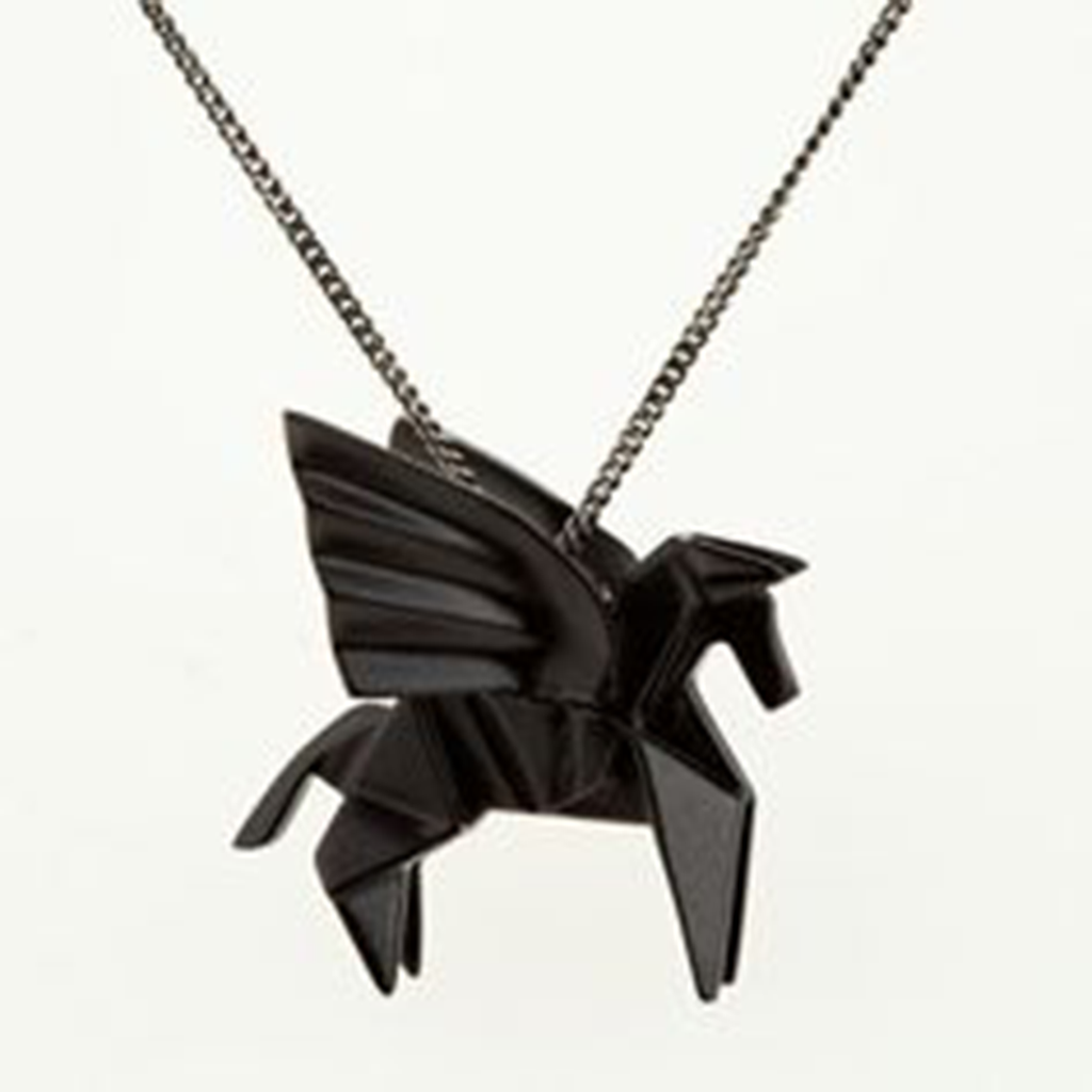 Origami Pegasus Necklace