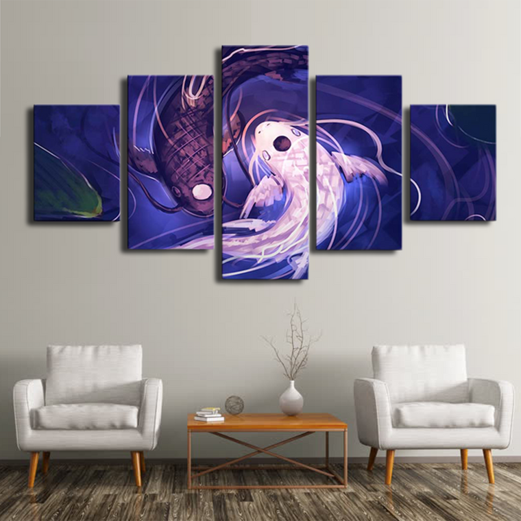 Pisces Yin & Yang Canvas: Limited Edition