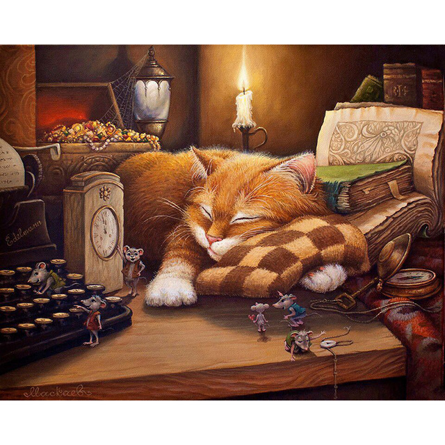 Cozy Cat - Paint by Number Kit